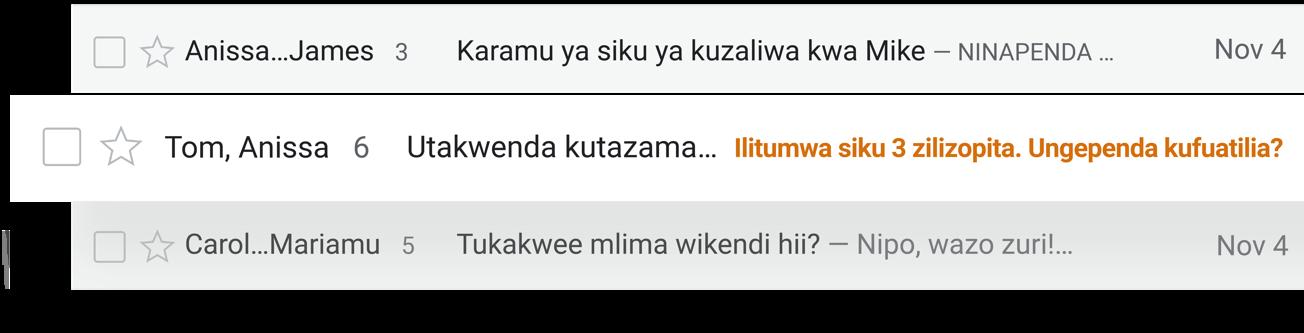 Usisahau kufanya chochote
