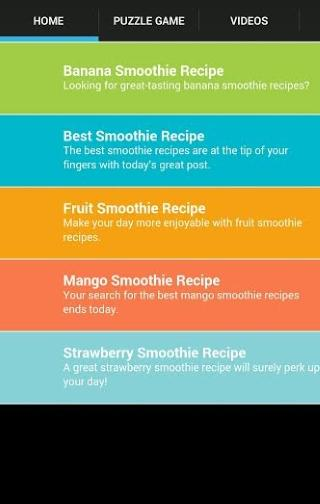 Smoothie Recipe At Home