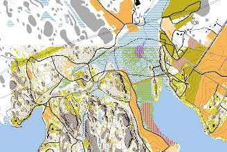 Photo: Salmi recreation area, from open data of the National Land Survey (www.mml.fi). Contours, cliffs and open areas created with Jarkko Ryyppö's Karttapullautin, other stuff from maastotietokanta vector data (imported from shp files into Mapinfo, next exported to dxf files, and finally these imported into Ocad).