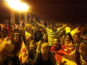 Photo: That time when Spain won the EURO CUP! And we all stormed Cibeles!