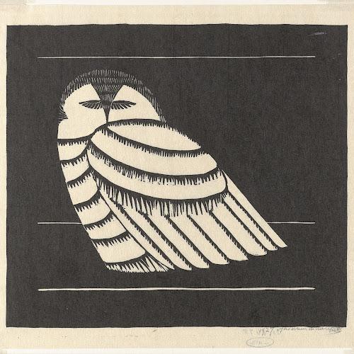Sneeuwuil, Samuel Jessurun de Mesquita, 1927 - Rijksmuseum