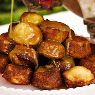 Mini Pear Cakes with Maple Cream.