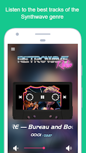 Retrowave Radio Screenshot