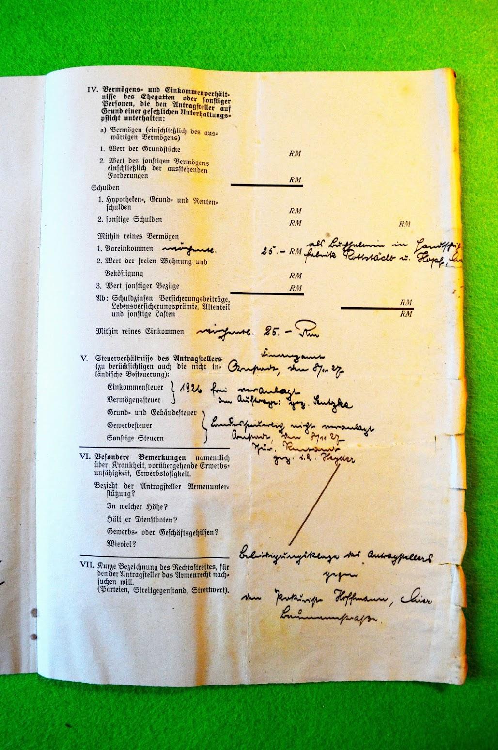 Armutszeugnis - Goldschmied Arthur Tresselt - Arnstadt - 8.11.1927