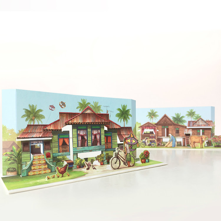 Pop Up Postcard :A Tale Of Kampung House by Loka Made