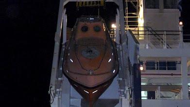 Photo: Fire escape boat at a tanker