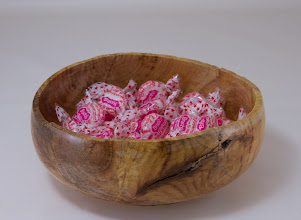 "Photo: Joe Barnard 8"" x 2"" candy dish [yellowwood]"