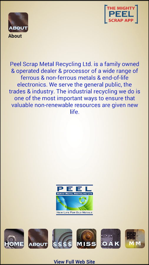 Peel Scrap Metal Recycling App- screenshot