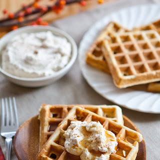 Eggnog Waffles with Spiced Whipped Cream Recipe