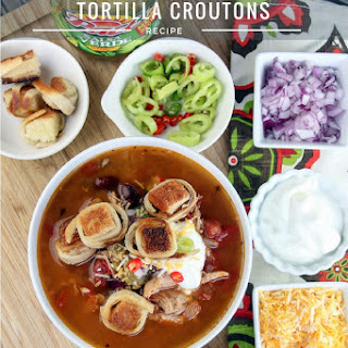 Instant Pot Recipe | Chicken Tortilla Soup with Tortilla Croutons Recipe