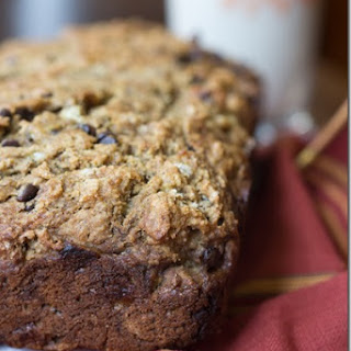 Brown Butter Chocolate Chip Quinoa Banana Bread