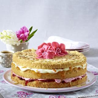 Strawberry and Peach Cake.