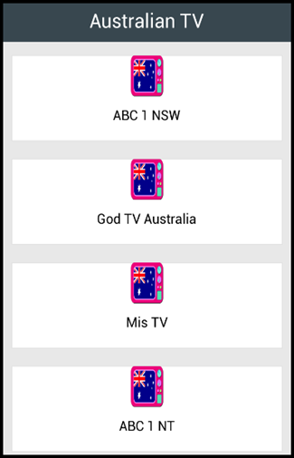 Australian TV 1.0 screenshots 1