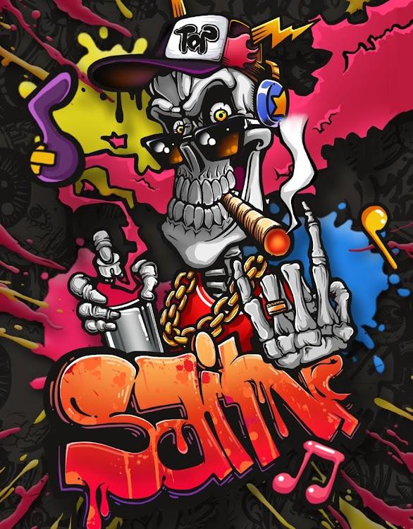 Graffiti Skull Street Art Live Wallpaper Android