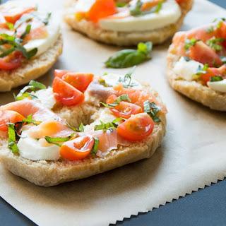 Friselle Pugliesi with Smoked Salmon, Mozzarella & Basil Recipe