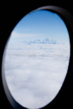 """Photo: Scenic image of Mt Fairweather from a plane after a float trip down the Tashenshini River. The """"Tat"""" flows out of Yukon, CA, through British Columbia and empties into Glacier Bay National Park in Alaska, US."""