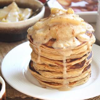 Caramel Apple Whole Wheat Pancakes.