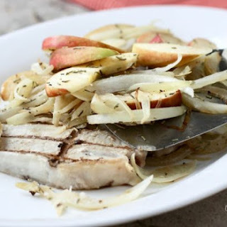 Grilled Pork Chops with Apple Topping.