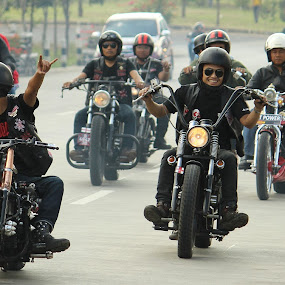 by Rizky karunia  Arief  - News & Events Entertainment ( motorclycle, bad burn, brotherhood bikers, riders )