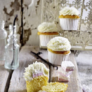 Marshmallow and Coconut Cupcakes.