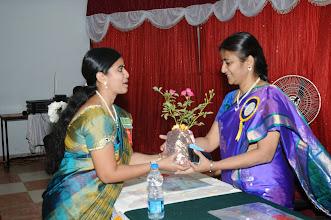 Photo: Mrs. Gayatri with Dr. P. Uma Devi - Convener