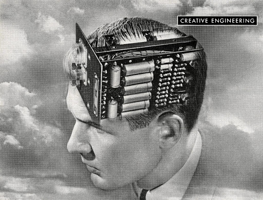 Part human, part machine, this 1949 illustration speaks to current fears surrounding artificial intelligence.