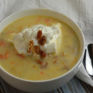 Loaded Instant Pot Potato Soup.