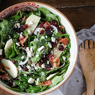 Apple Cranberry Spinach Salad.