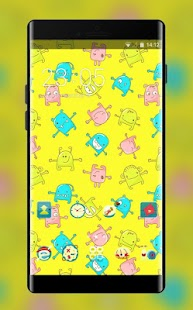 Yellow Cartoon Theme Monster Live Wallpaper - náhled