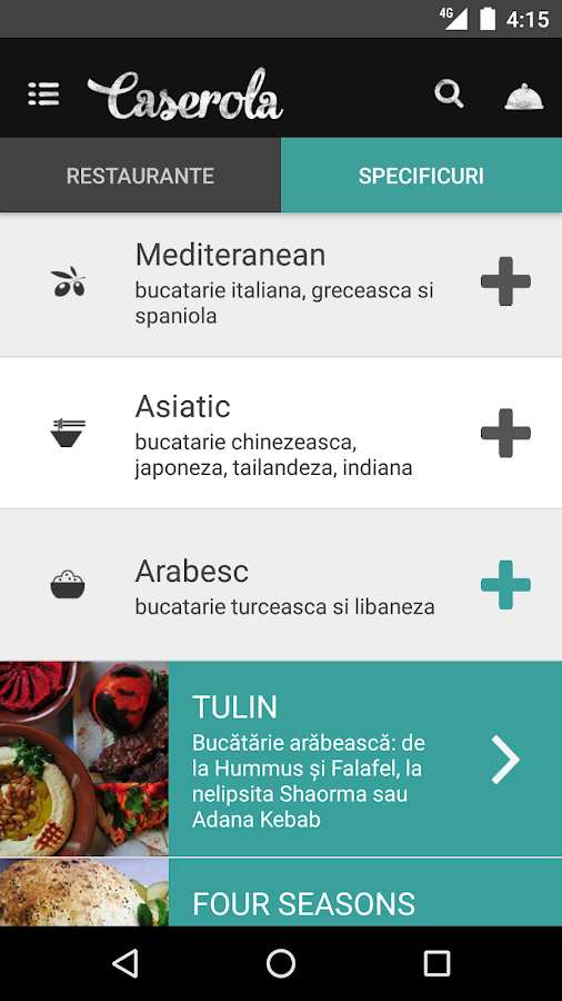 Caserola - Food delivery- screenshot