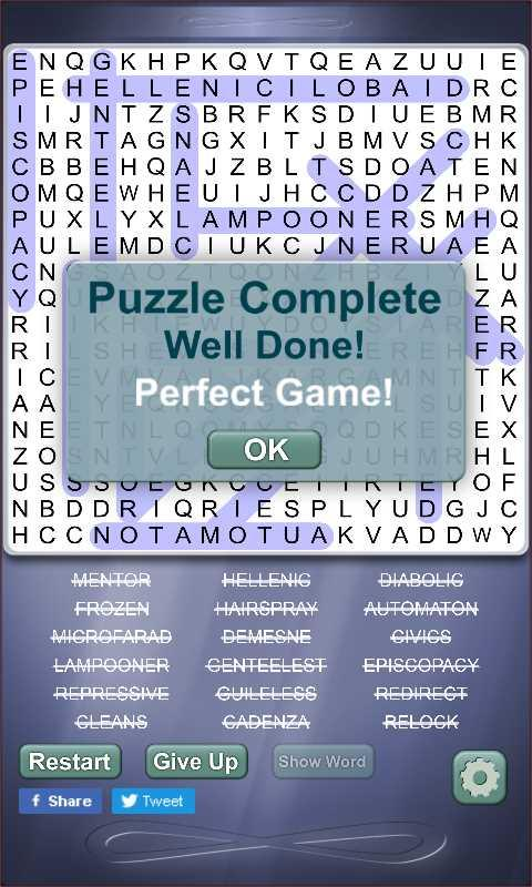 Wordsearch Infinite Play- screenshot