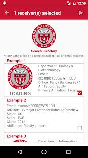 WPI Directory screenshot