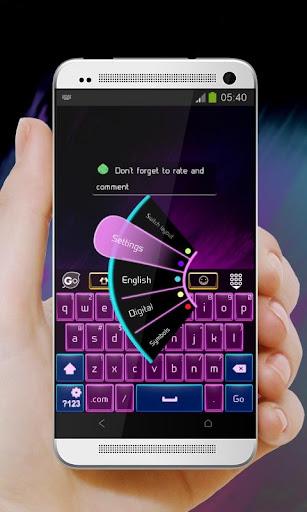 玩個人化App 보라색 팔레트 GO Keyboard免費 APP試玩