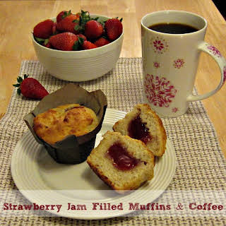 Strawberry Jam Filled Muffins.