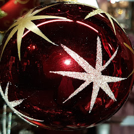 Red and big Christmas ball  by Patrizia Emiliani - Public Holidays Christmas ( red, big, christmas,  )