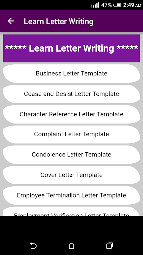 Learn English Letter Writing with 2000+ Examples ! 1.0 screenshots 1
