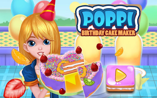 Poppi Birthday Cake Maker Cooking and Decoration 1.3 screenshots 1