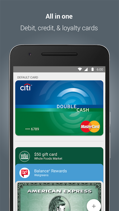 Google Wallet: captura de pantalla