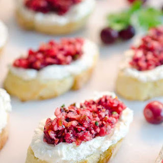 Cranberry Cream Cheese Bruschetta