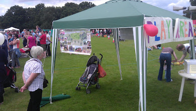 Photo: Feedback was sought for the proposed play area. By the end of the day we had run out of survey forms.
