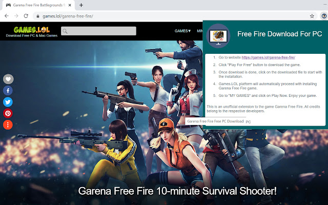 Free Fire Pc Download Chrome Web Store