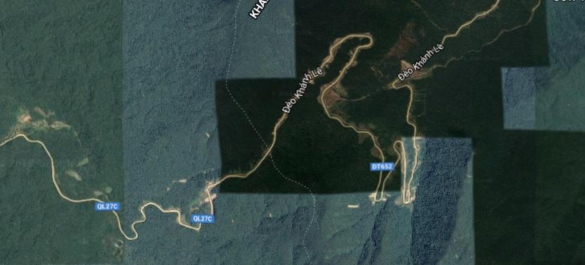 A map of Da Lat: motorbike routes Da Lat