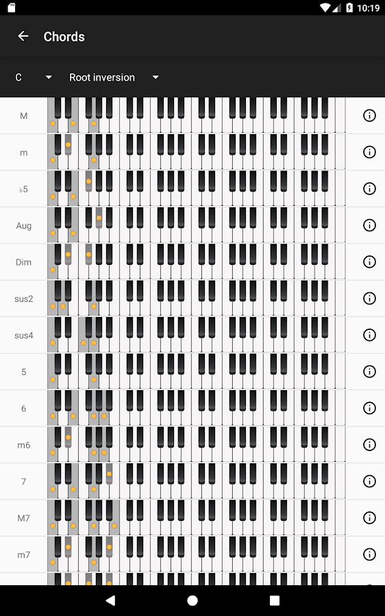 Piano Chords and Scales- screenshot