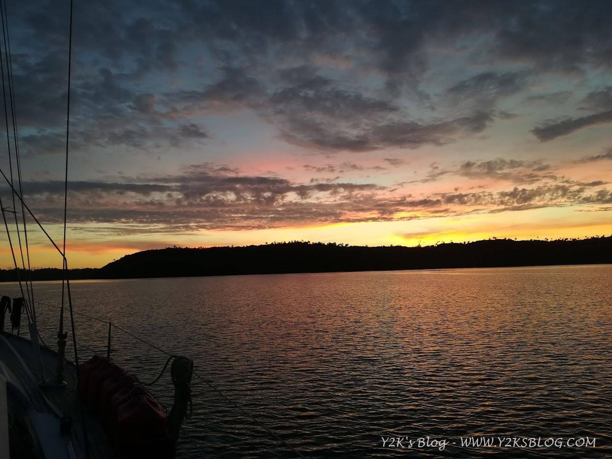 Finalmente un tramonto senza pioggia - Neiafu