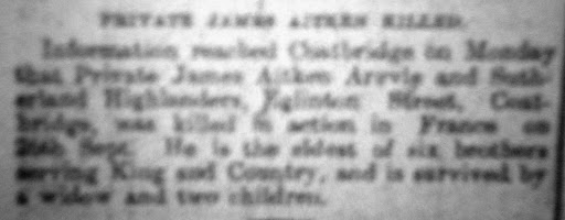 James Aitken newspaper clipping