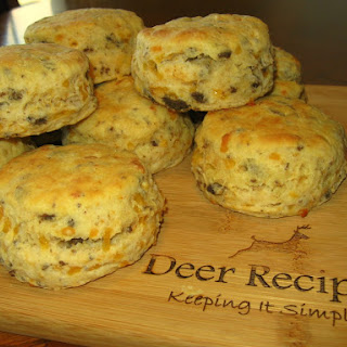 Venison Cheddar Biscuits.