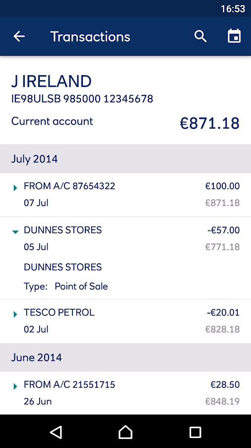 Ulster Bank ROI- screenshot
