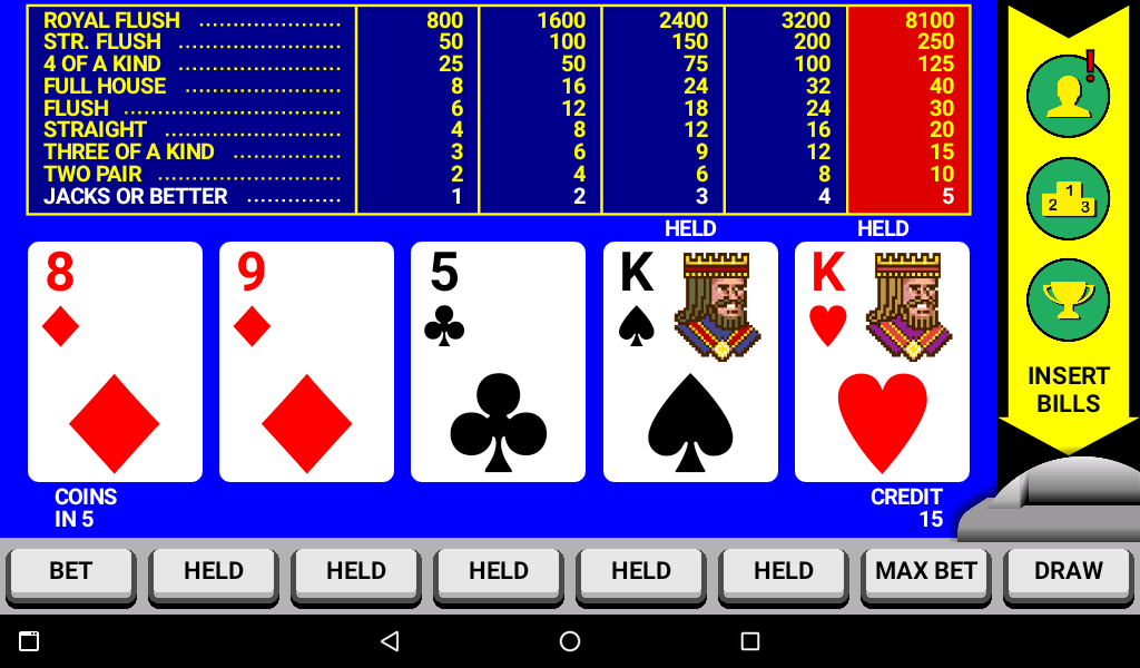Video Poker Classic Double Up- screenshot