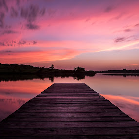Pastel sunsets  by Chris Clay - Landscapes Waterscapes ( omaha, pastel, sunset, pier, long exposure, nebraska, dock )