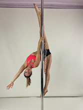 Photo: Helen Magiros - One Handed Monkey Straddle - Vertical Pole Gymnastics @ Pole Fitness Studios